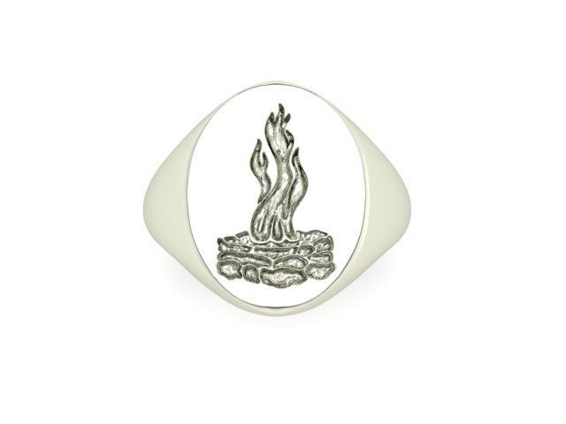 Picture of Council Fire Engraved Signet Ring