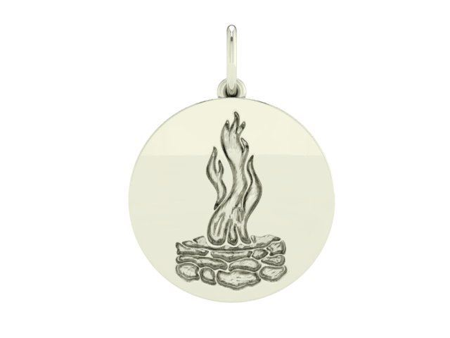 Picture of Council Fire Engraved Charm w/bracelet or necklace option