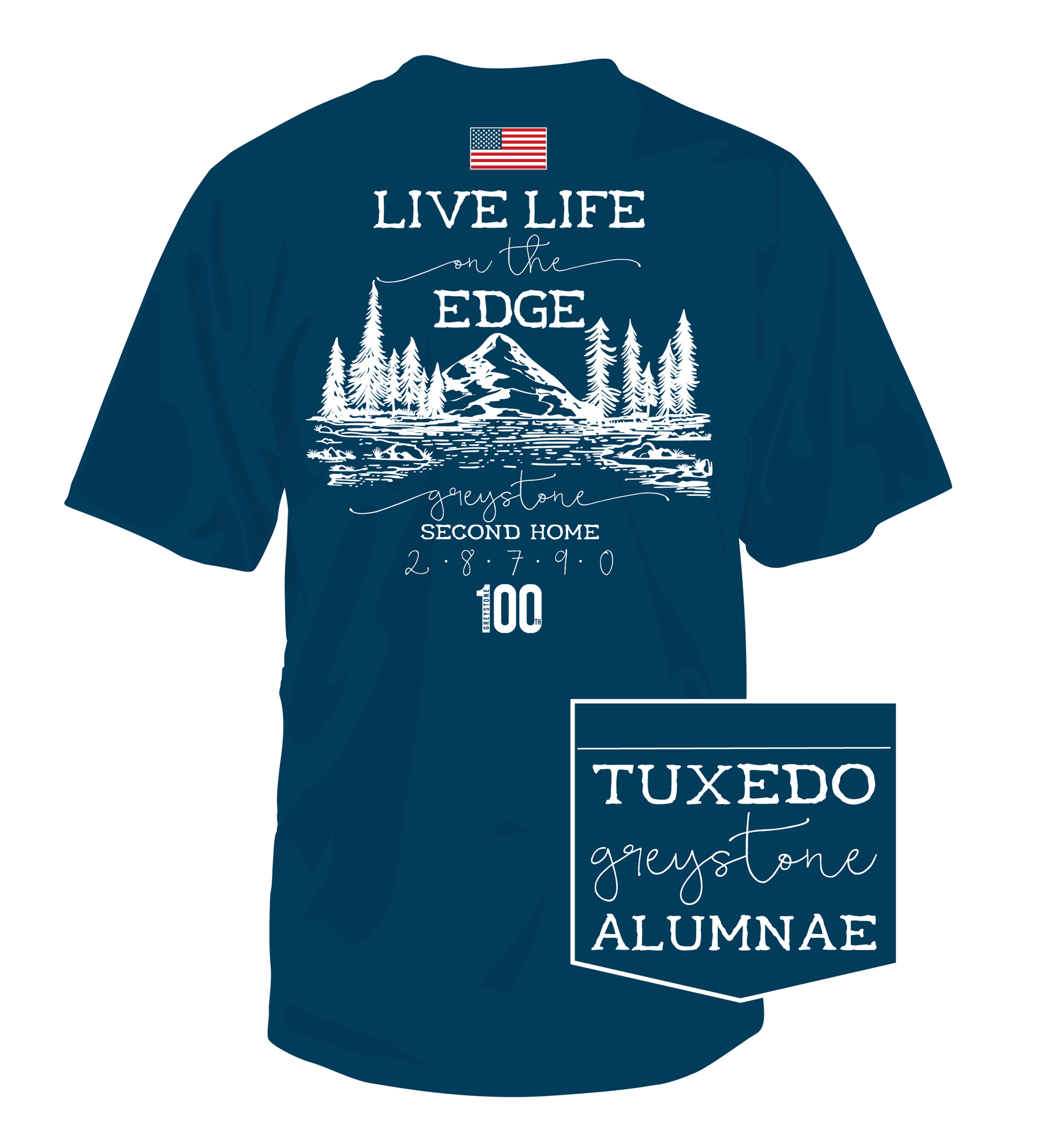 Picture of Second Home Live Life on the Edge, 100th Yr Alumnae Shirt - 2019