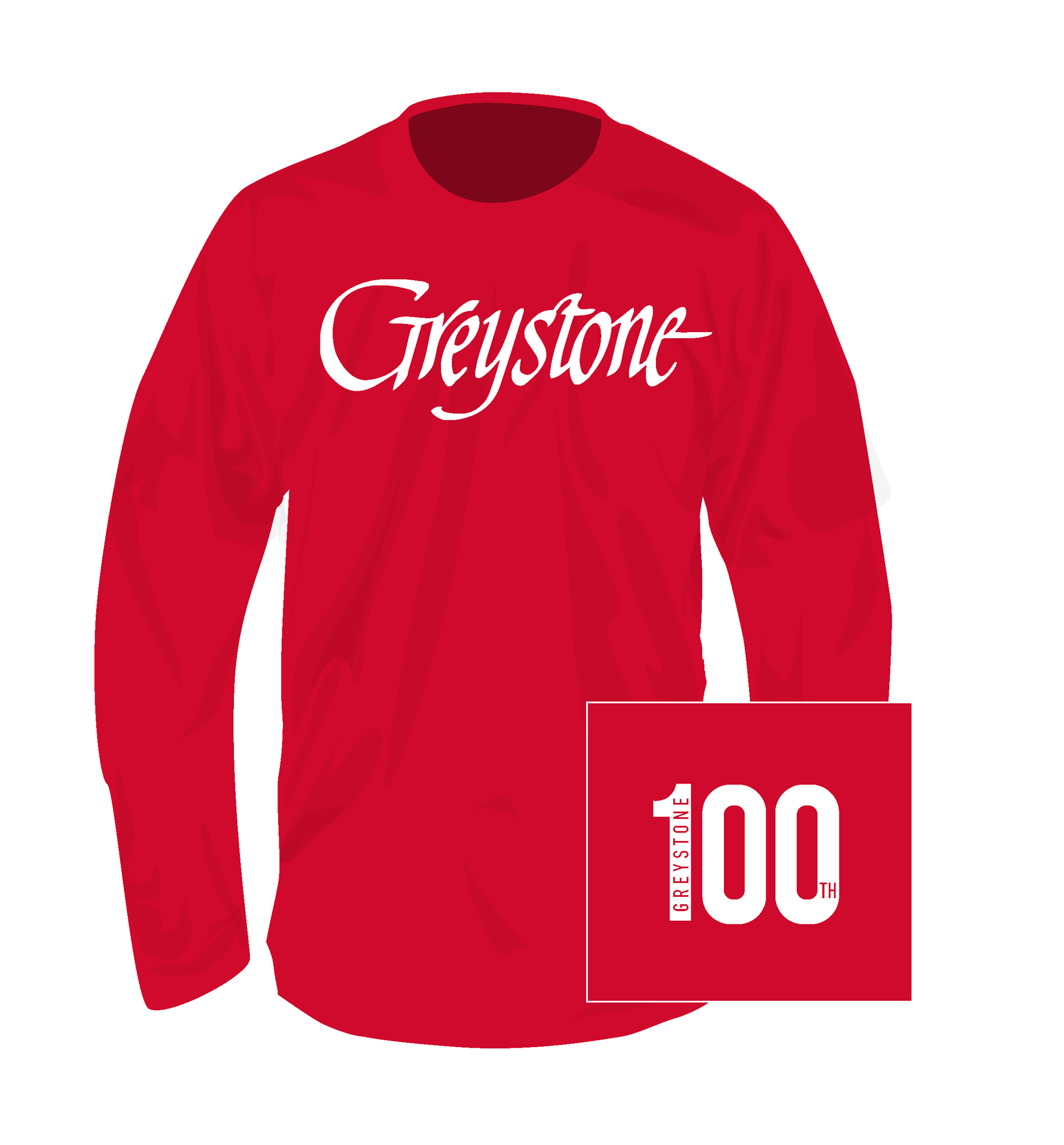 Picture of Signature Greystone Long Sleeve Tee - 100th - Two Colors