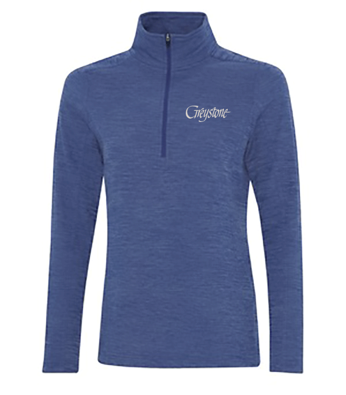 Picture of Liberty Blue Heather 1/4 Zip Lightweight Fleece