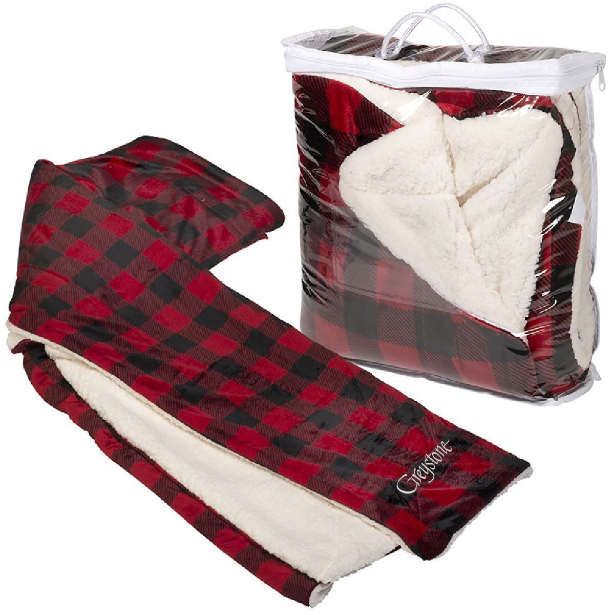 Picture of Buffalo Plaid Micro Boa-Sherpa Blanket