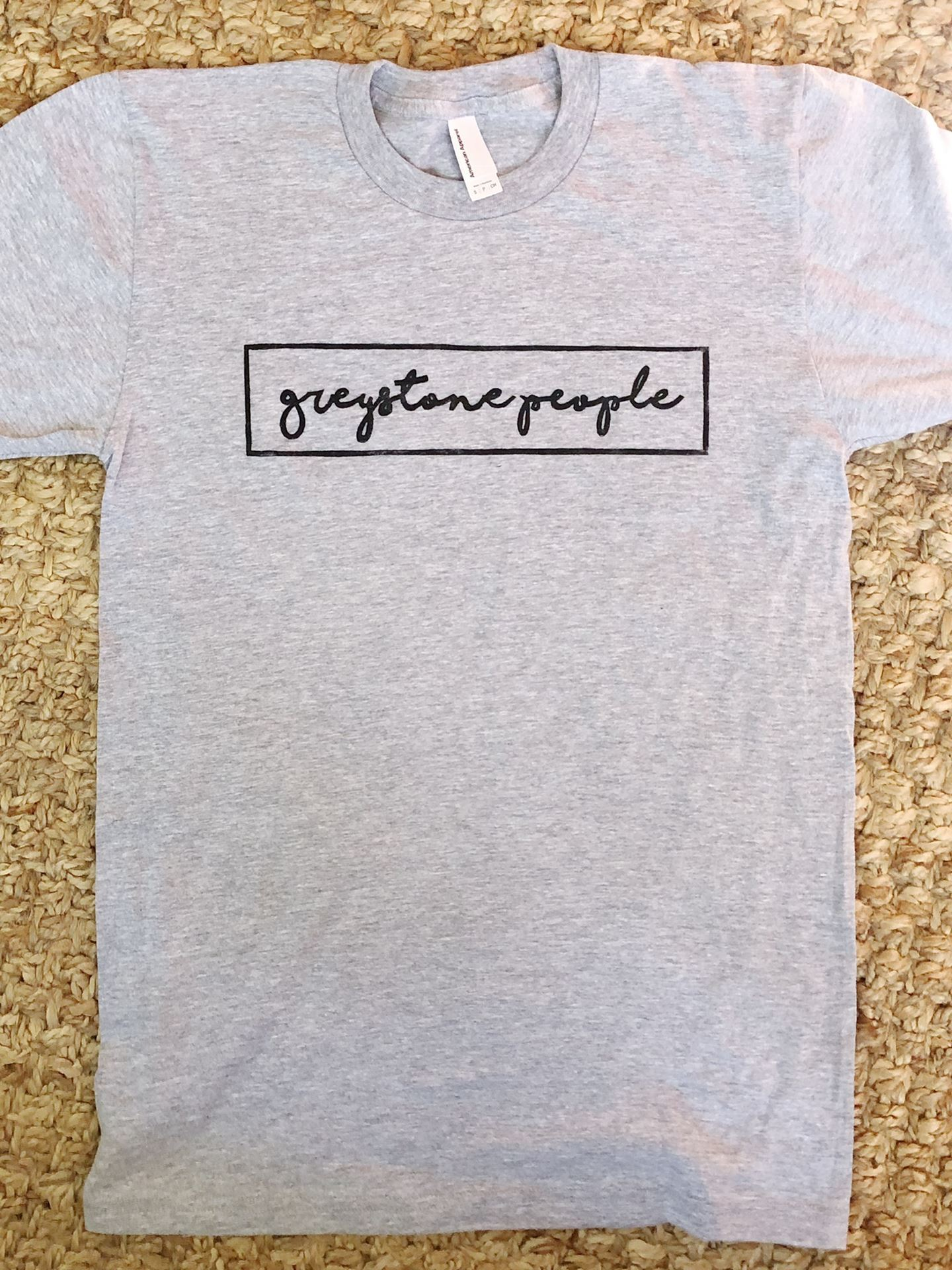 Picture of Greystone People Hand-Printed Gray Shirt - Adult Small Only
