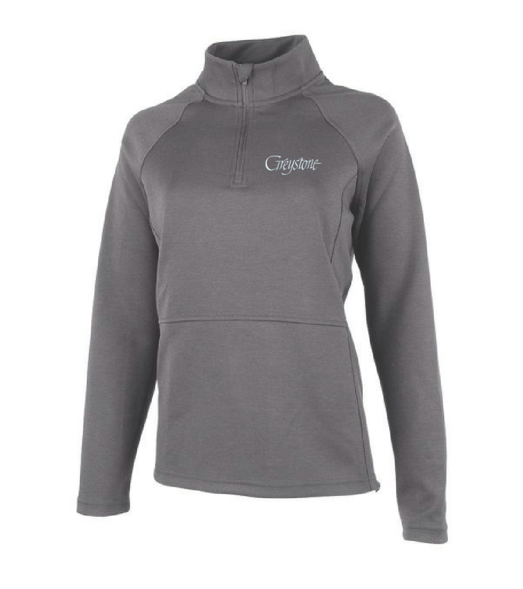 Picture of Grey Seaport Quarter Zip Pullover - Adult Small Only