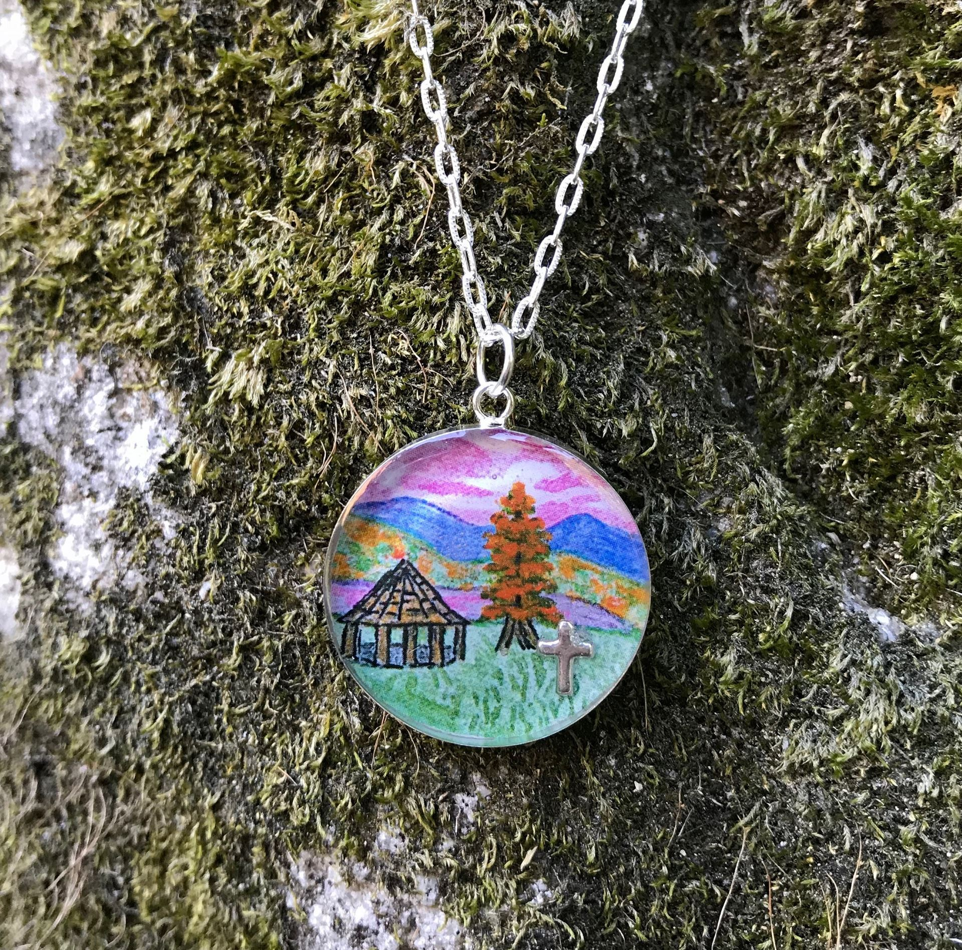 Picture of Shepherd's Gazebo/Fall Charm Necklace