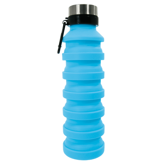 Picture of Light Blue Collapsible Water Bottle, 18 oz.