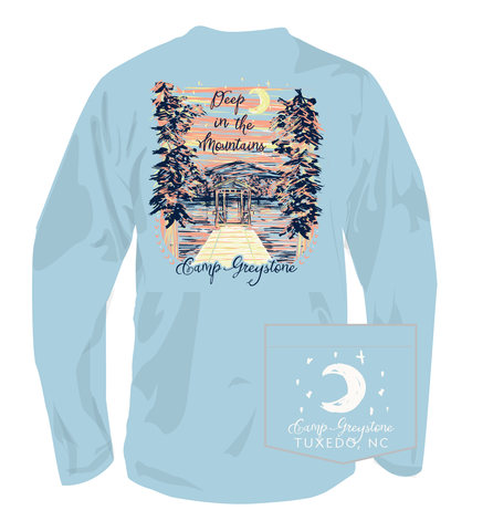 Picture of Deep in the Mtns, Long Sleeve Shirt, Chambray
