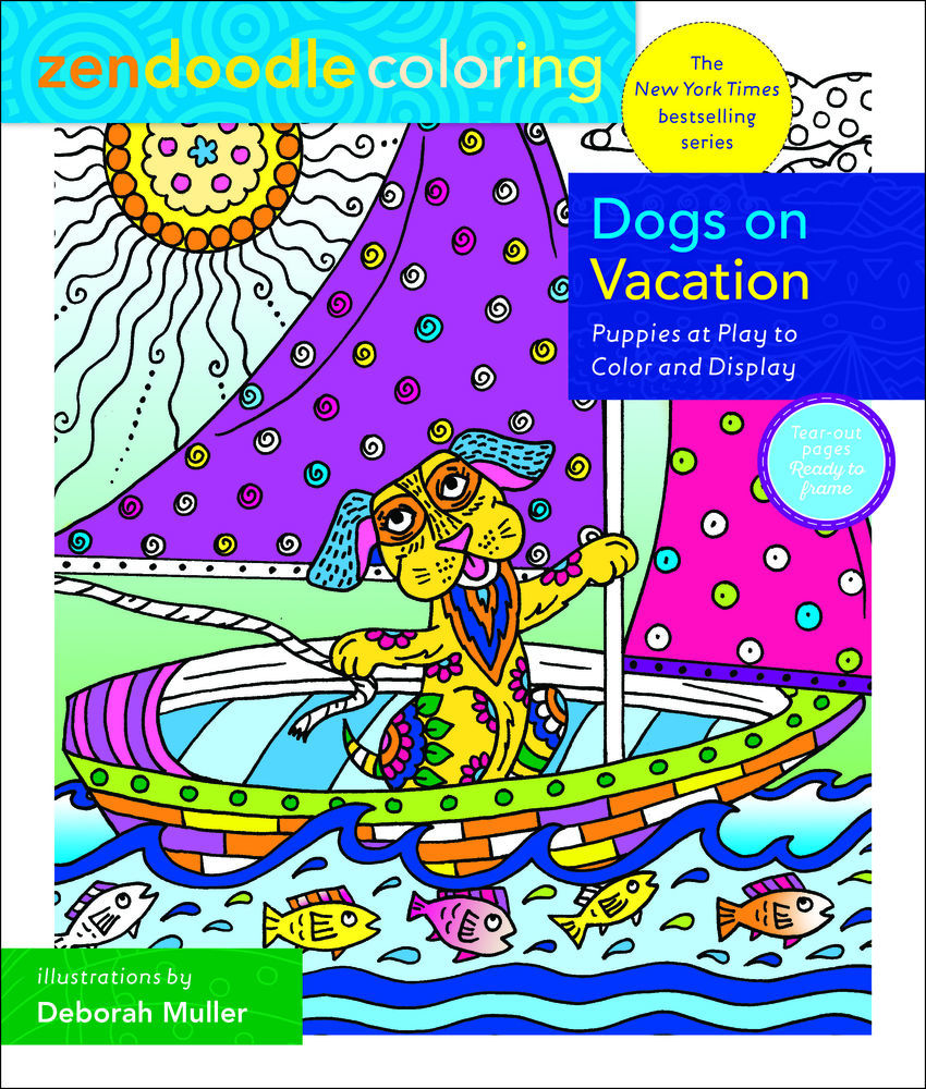 Picture of Zendoodle Coloring:  Dogs on Vacation