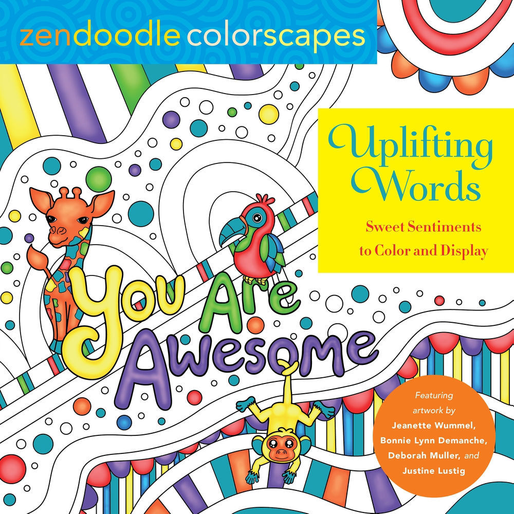 Picture of Zendoodle Coloring:  Uplifting Words