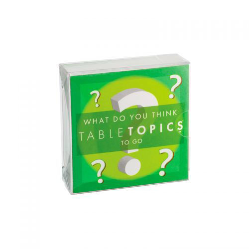 Picture of Table Topics:  To Go - What do you Think