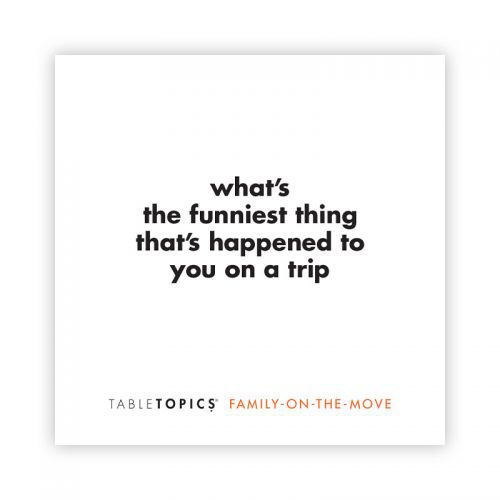 Picture of Table Topics:  To Go  Family Trio