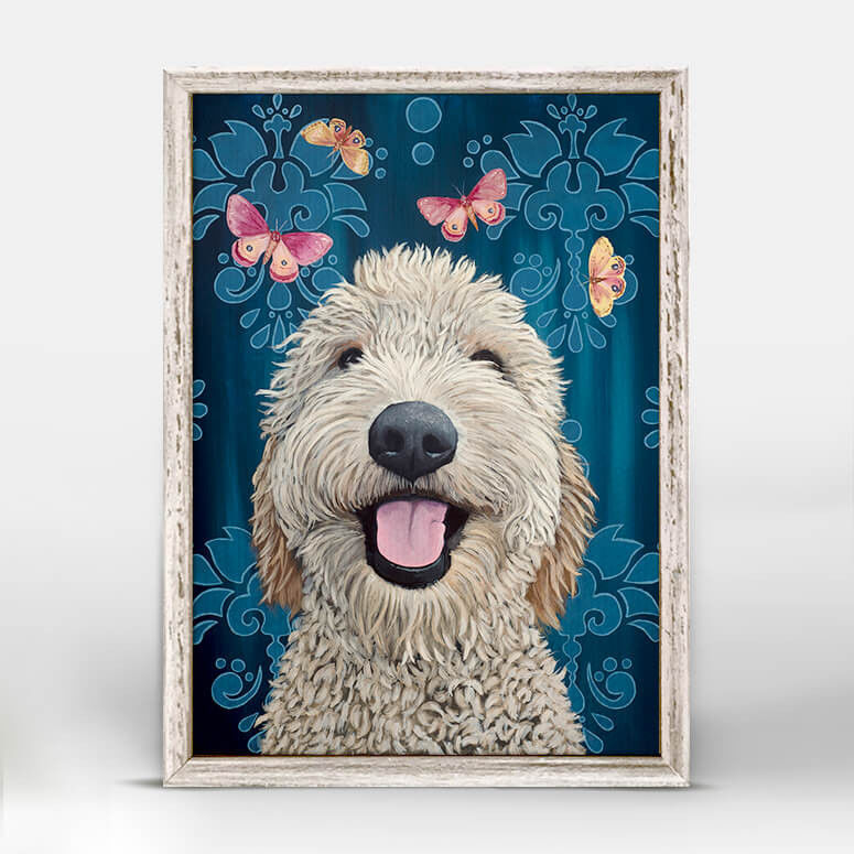 Picture of Happy Dog Mini Framed Canvas