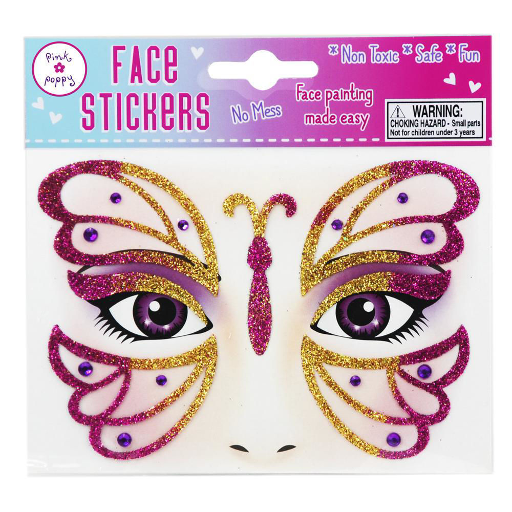 Picture of Butterfly Face Sticker