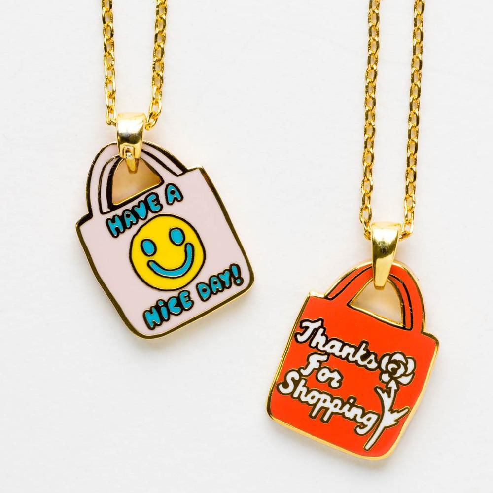 Picture of Have a Nice Day Cloisonne Pendant