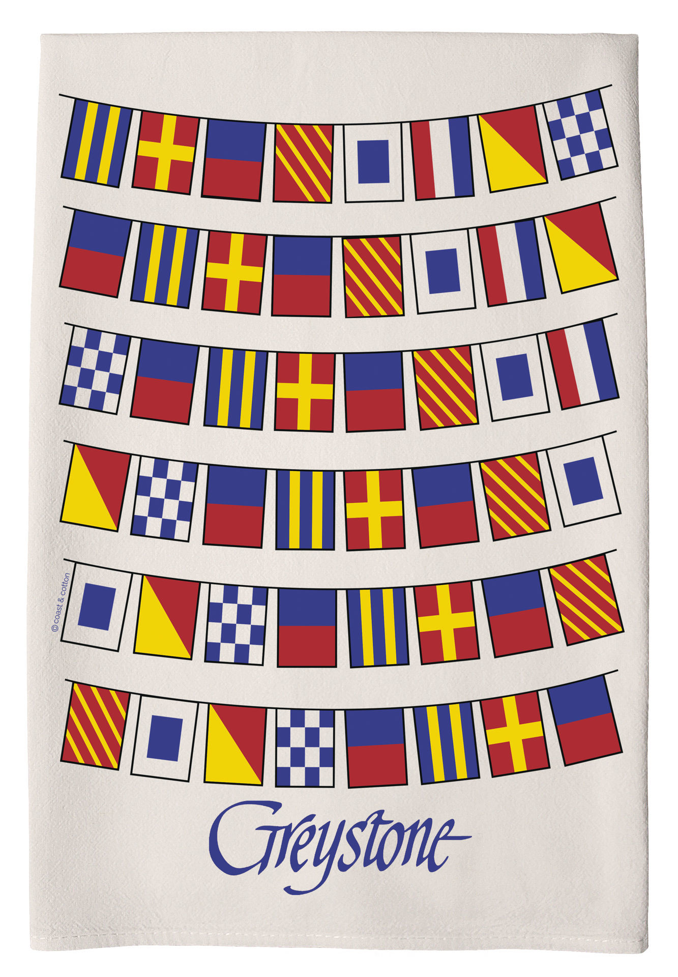 Picture of Greystone Nautical Flag Hand Towel
