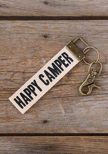 Picture of Happy Camper Canvas Key Fob/Backpack Charm