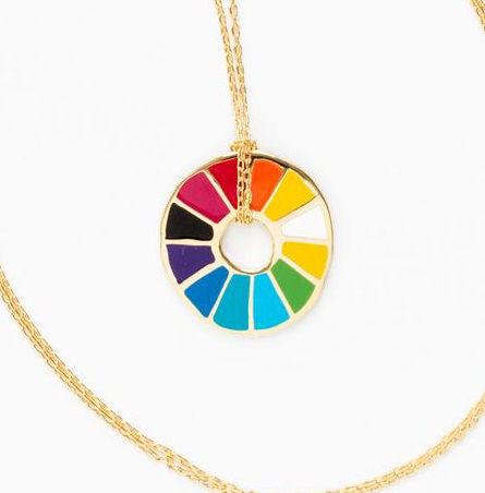 Picture of Color Wheel Cloisonne' Pendant