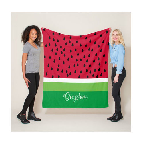 Picture of Watermelon Minky Fleece Blanket