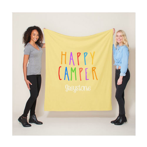 Picture of Happy Camper Minky Fleece Blanket