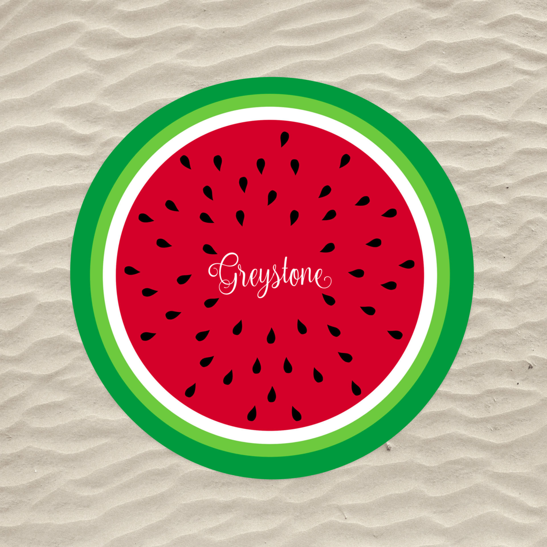 Picture of Watermelon Circle Beach Towel