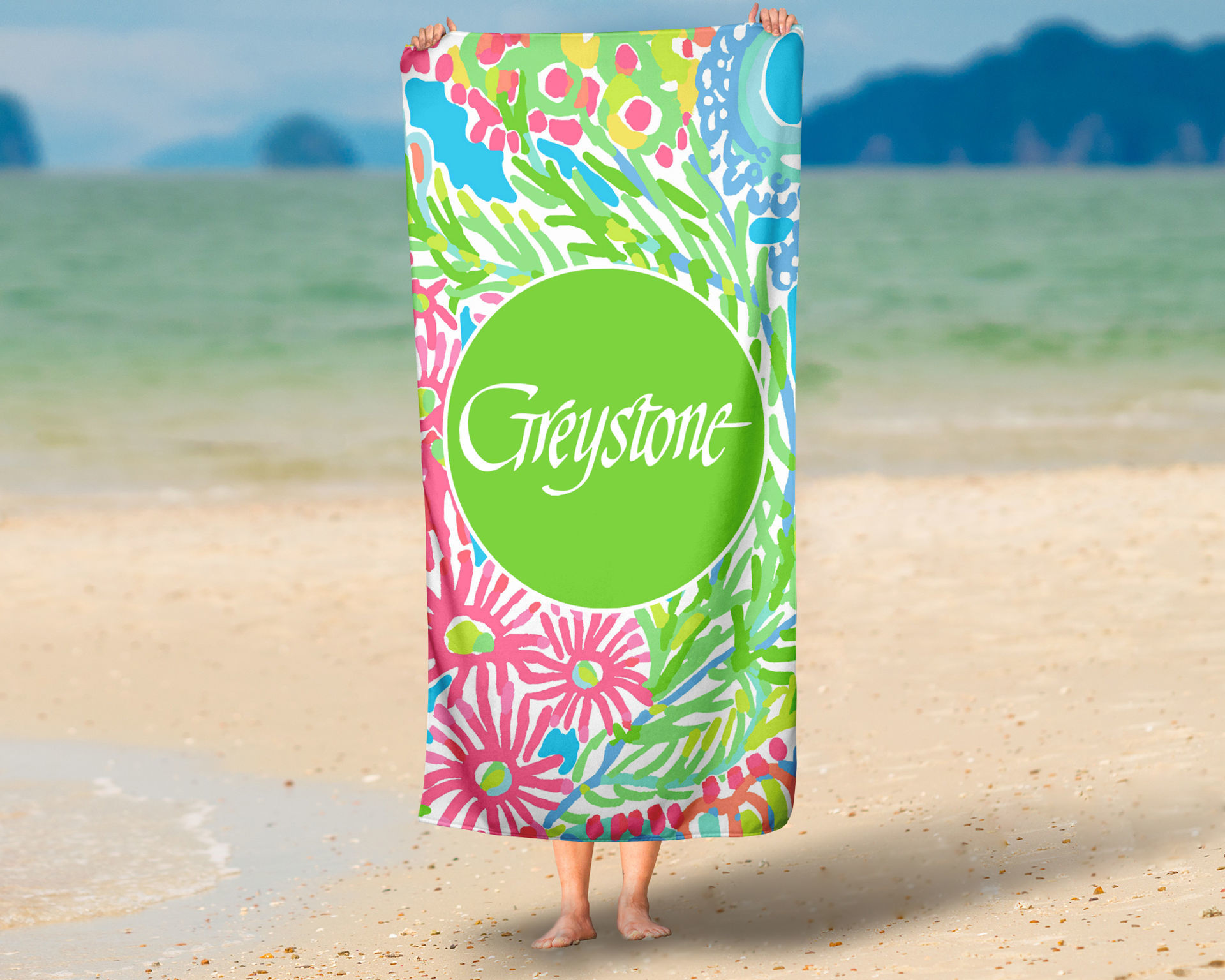 Picture of Georgia Floral Oversized Beach Towel