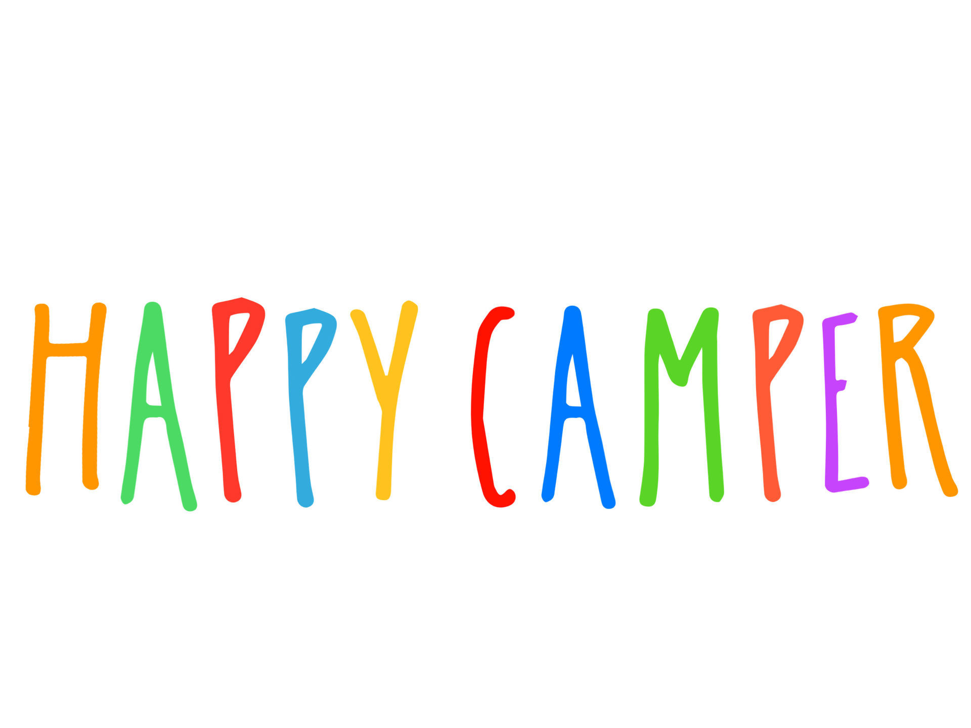 Picture of Happy Camper Word Decal Sticker