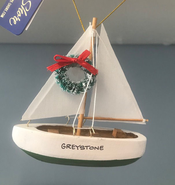 Picture of Sailboat Ornaments, wood, 3 colors