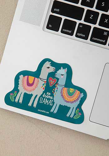 Picture of No Drama Llamas Decal Sticker