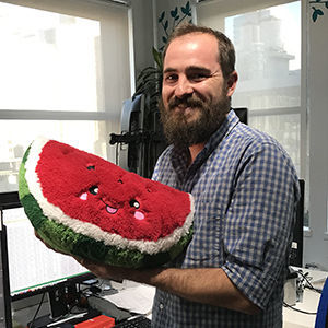 Picture of Watermelon Plush Pillow, 17""
