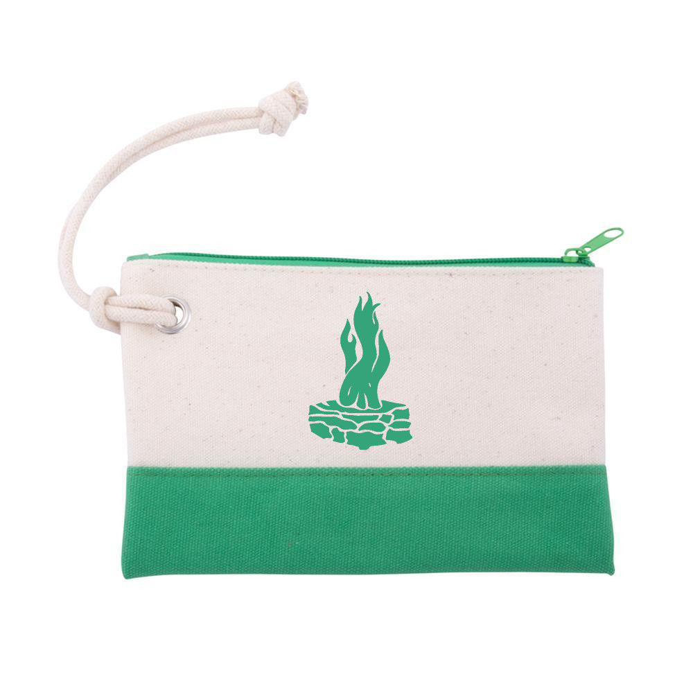 """Picture of Canvas Rope Wristlet Pouch, with Council Fire Logo 8"""" x 5"""""""