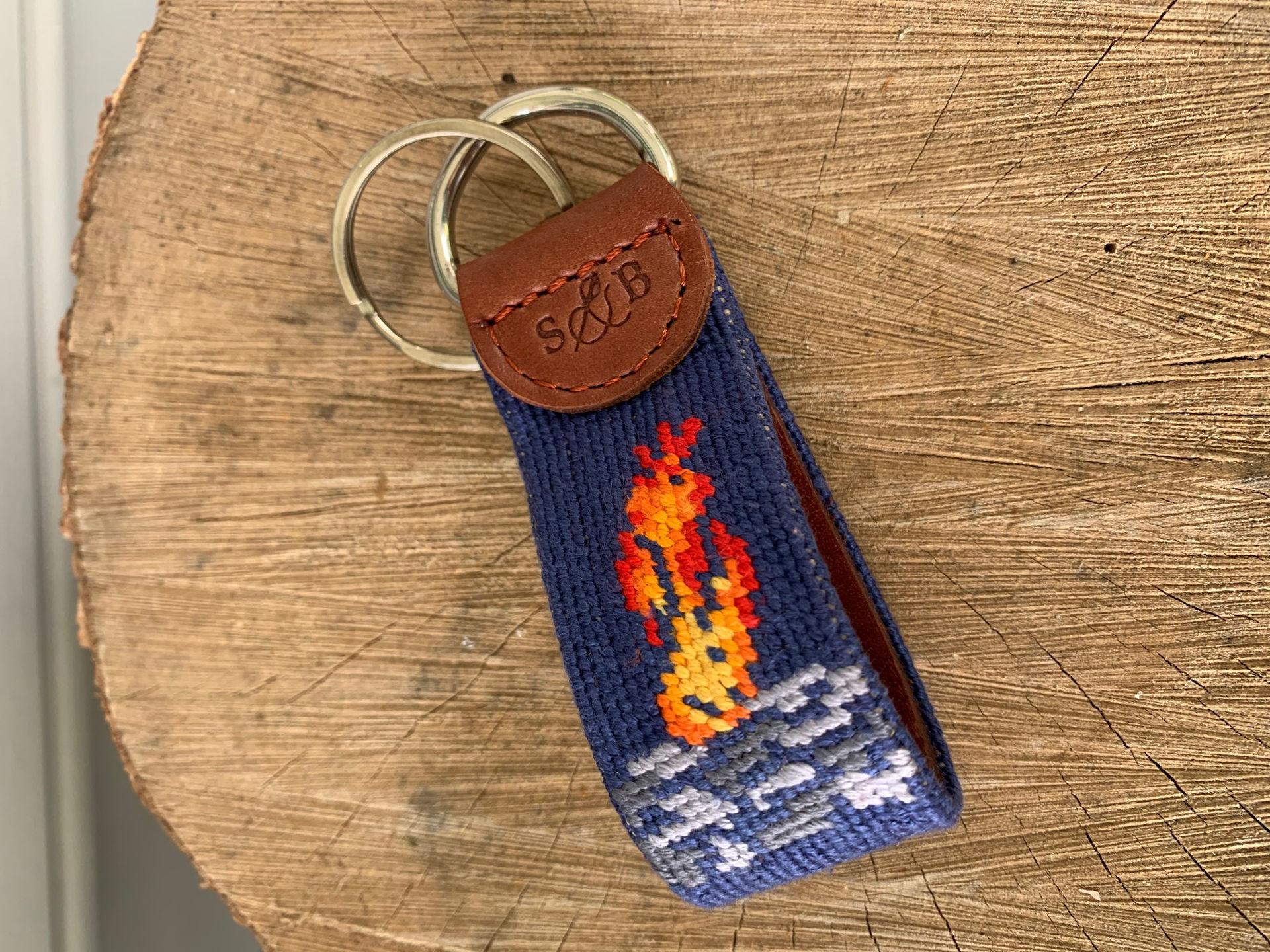 Picture of Smathers & Branson CG Nautical Flag Key Fob