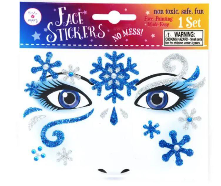 Picture of Snow Princess Face Sticker