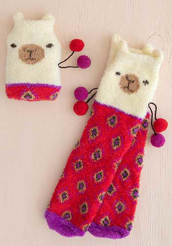 Picture of Llama Cozy Sock