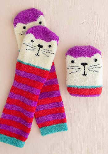 Picture of Over-the-Knee Cozy Socks - Cat