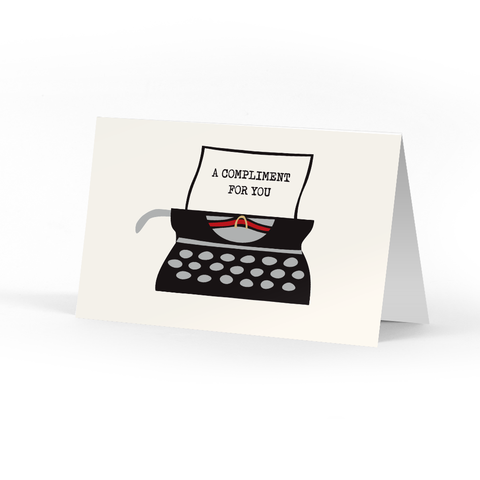 Picture of Typewriter Compliment Cards