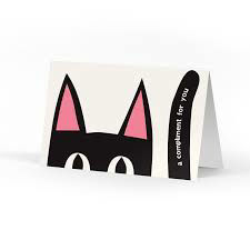 Picture of Peeking Kitty Compliment Cards