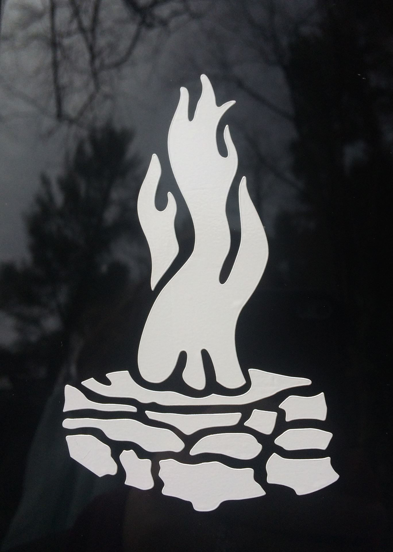 Picture of White Council Fire Vinyl Decal