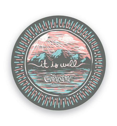 Picture of It Is Well Round Sticker
