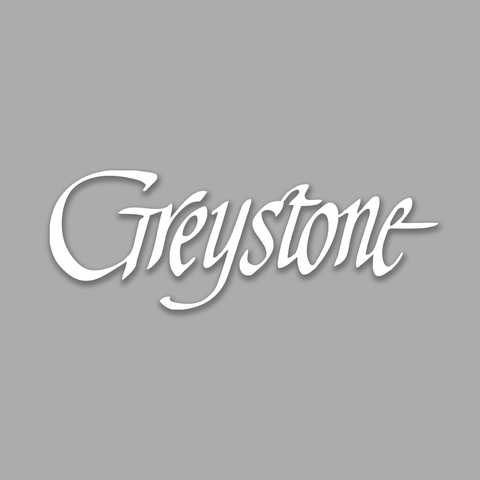 Picture of White Script Greystone Vinyl Decal