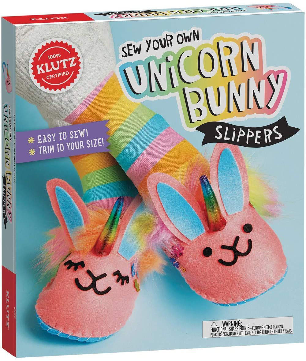 Picture of Sew Your Own Unicorn Bunny Slippers
