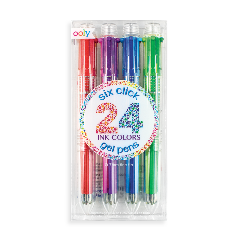 Picture of 6 Click Gel Pens - set of 4