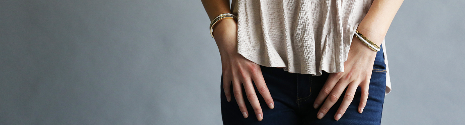Picture of Hair Tie Bangle - Classic Gold