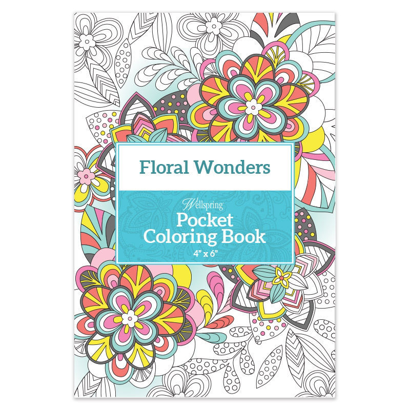 Picture of Floral Wonders Pocket Coloring Book
