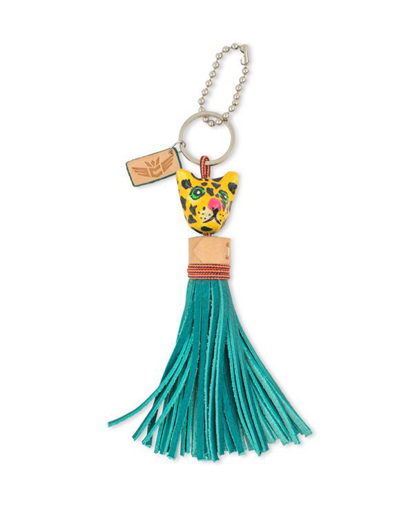 Picture of Tiger with Turquoise Tassel Charm