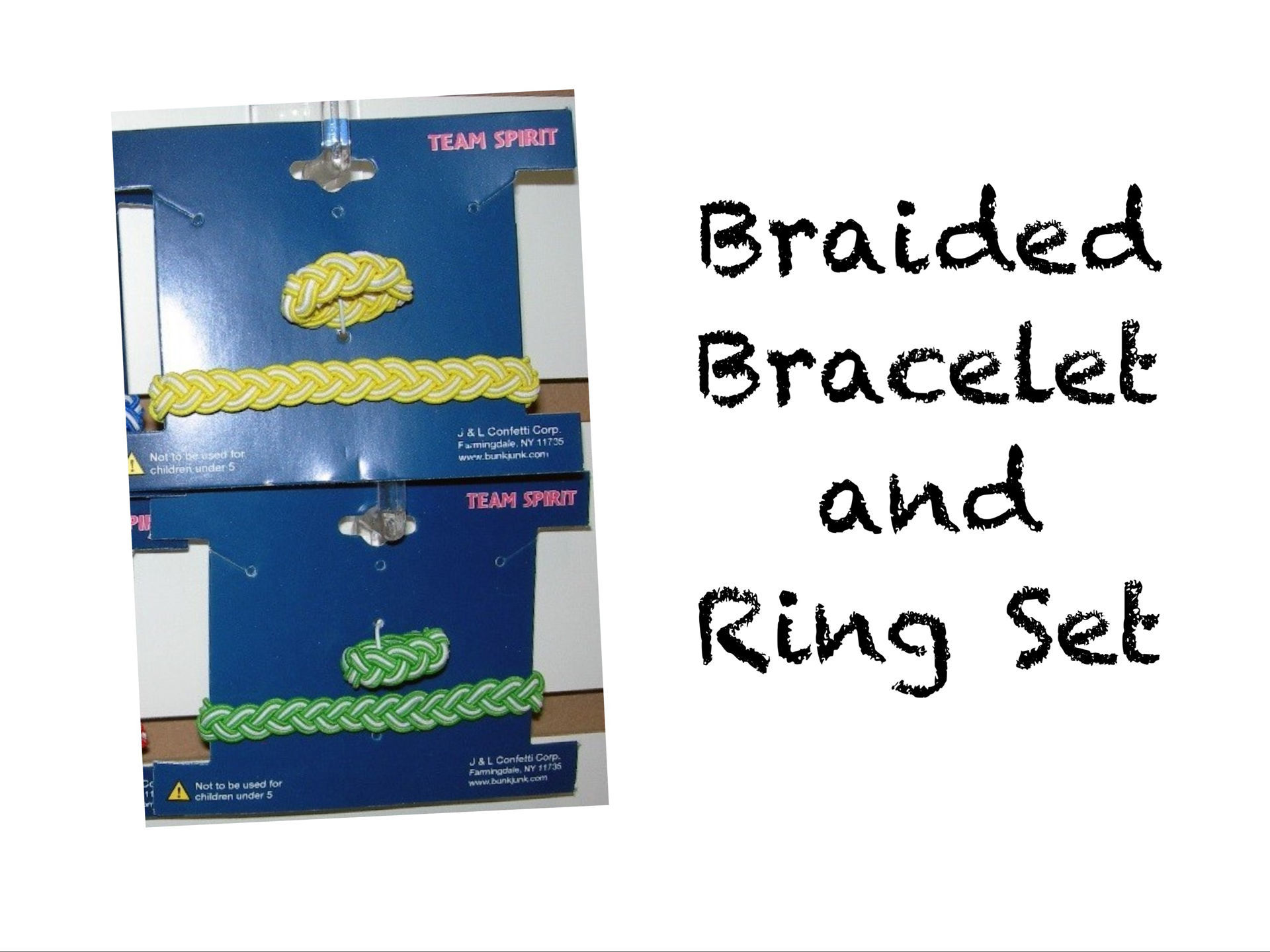 Picture of Braided Bracelet & Ring Set