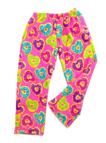 Picture of Hearts Donuts Fuzzie Pants