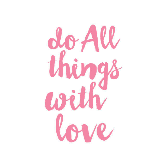 Picture of Do All Things With Love Vinyl Decal