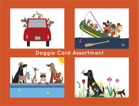 Picture of Doggie Card Assortment Note Cards