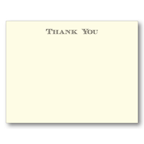 Picture of Block Thank You Note Cards